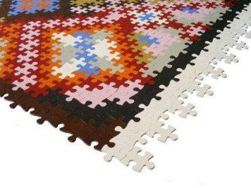 colourful colorful jigsaw rug mat
