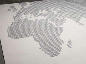 grey gray world atlas map area rug