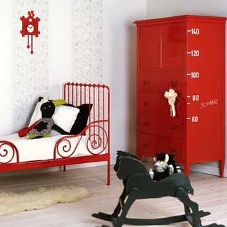 Red & White Kids Room Childs Boys Bedroom Ideas Girls Unisex