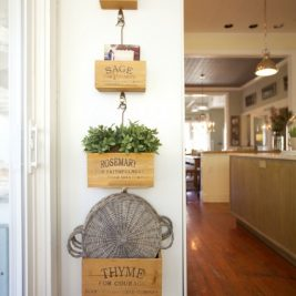 Cute wooden wall mounted kitchen indoor mini herb rack