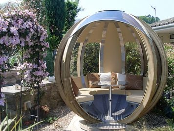 sphere pod spherical garden room