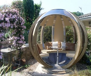 sphere pod spherical garden rooms