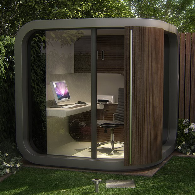 outdoor office pods. Curved Garden Room Pod Modern Outside Home Office Outdoor Pods 0