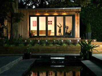 home gym contemporary garden room