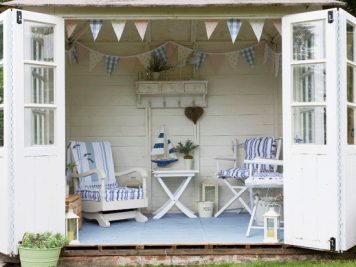 vintage shed outdoor garden room lounge