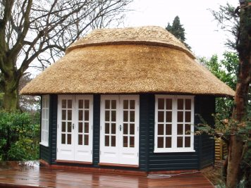 thatched roof garden room