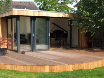 outdoor garden music rooms decking patio