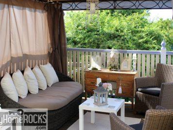 temporary gazebo garden room sun terrace vintage dresser