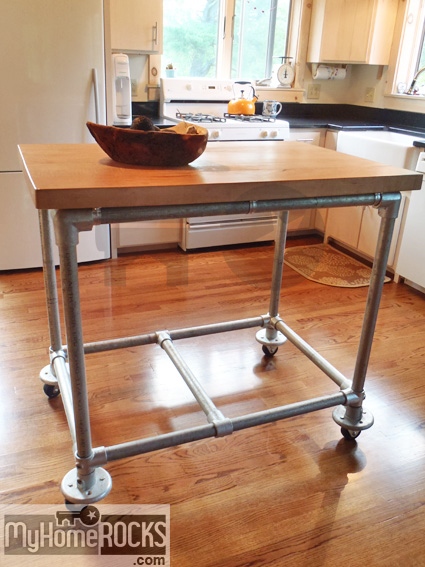 My Home Rocks Tours The Butler S Diy Butcher Block Island