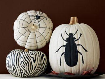 Spooky pumpkin paint ideas