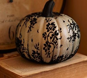 Lace covered gothic pumpkin