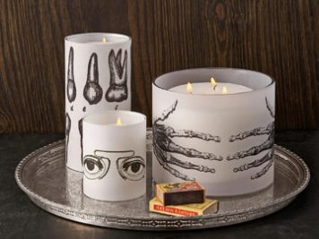 DIY Gothic Halloween candles