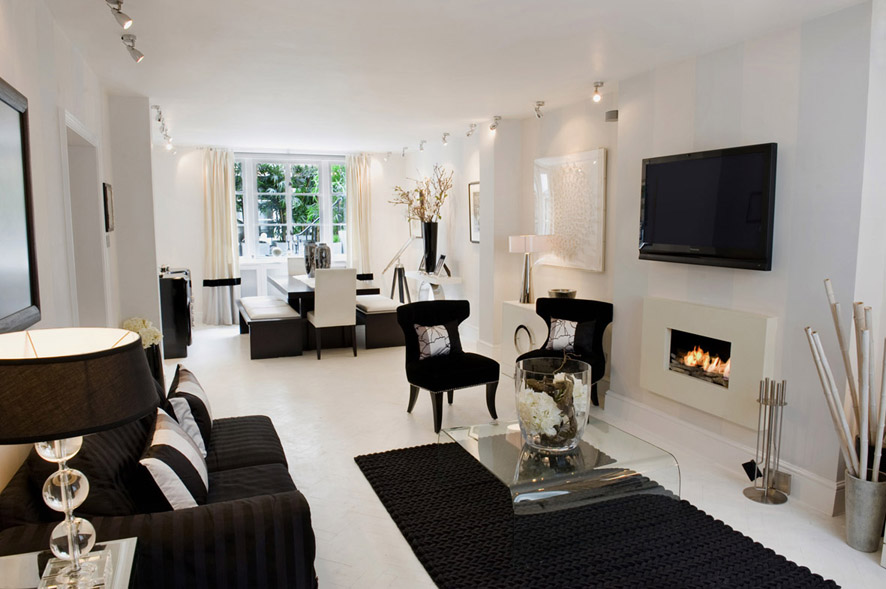 black and white accessories for living room magnificent bryanston mews west maisonet 海外インテリア 白が 27894