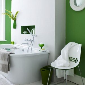 green bathroom decoration