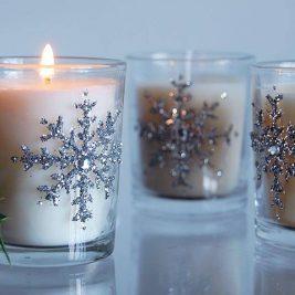Christmas bathroom candle